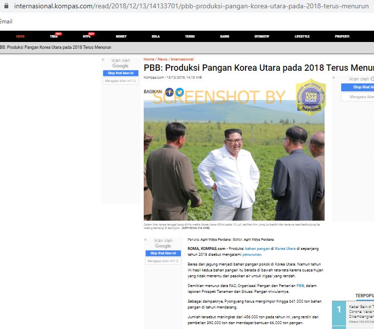 """Turn Back Hoax: [SALAH] Kim Jong Un Mengenakan Kemeja Putih Bertuliskan """"Bersih, Merakyat, Kerja Nyata"""""""
